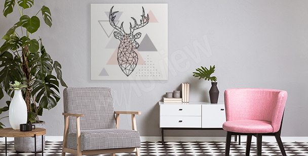 Geometrisches Bild mit Hirsch
