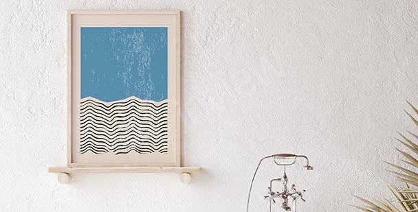 Poster Retro mit einem Schwimmer