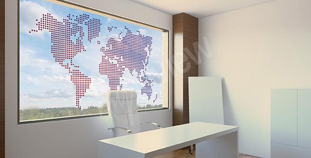 Glasfenster Sticker: Karte