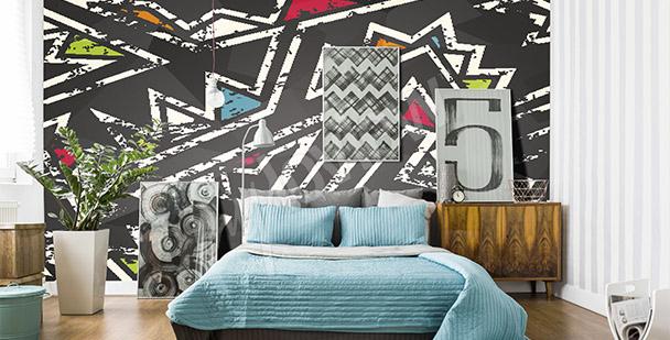 Graffiti-Fototapete für das Schlafzimmer