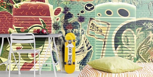 Graffiti-Fototapete für Jugendliche