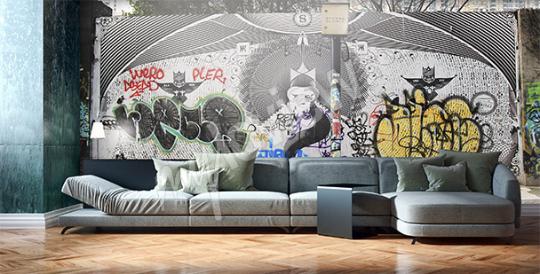 Graffiti-Fototapete Schanghai