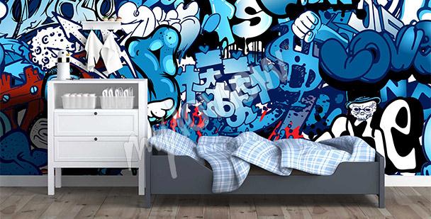 Graffiti-Fototapete Streetart