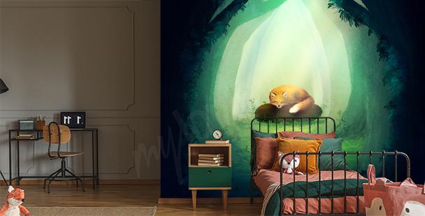 Grafische Fototapete fürs Kinderzimmer