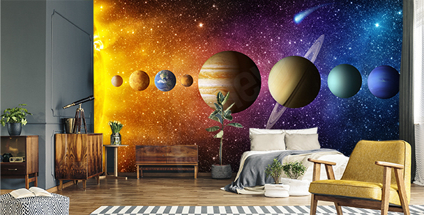 Grafische Fototapete Planeten