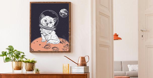 Grafisches Poster Weltraum
