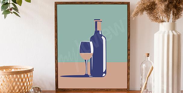 Grafisches Weinposter
