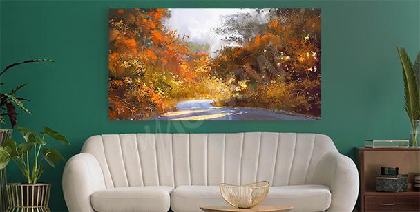 Bild Herbstlandschaft im Retro-Stil