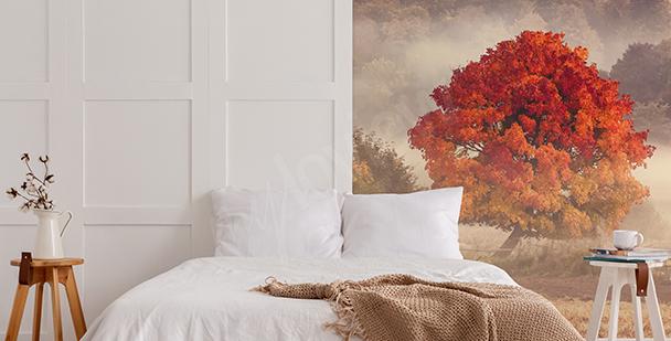 Herbstfototapete mit Landschaft