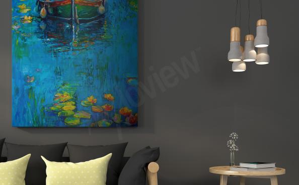 impressionistisches Bild mit See