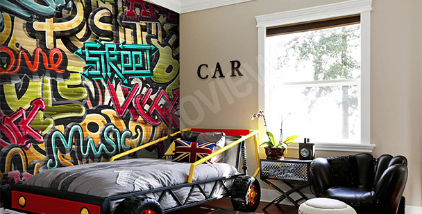 Jugendliche Fototapete Graffiti