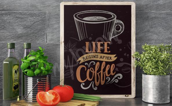Kaffee-poster für Restaurant