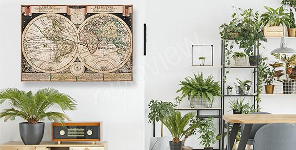 Kartographisches Bild im alten Stil