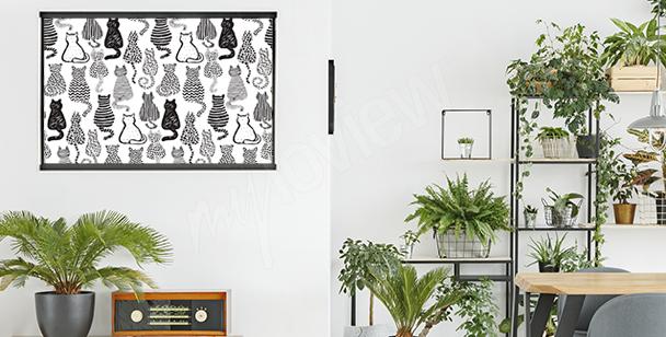 Katzenposter fürs Wohnzimmer