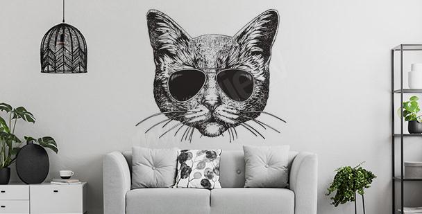 Katzensticker fürs Wohnzimmer