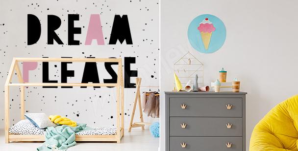 Kinder-Fototapete Typografie