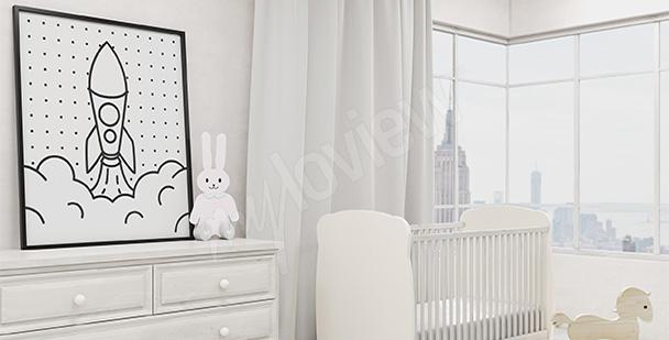 Kinder-Poster schwarz-weiß