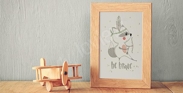 Kinder-Poster Waschbär