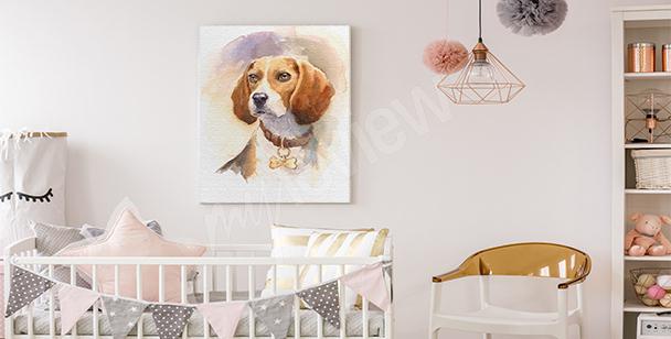 Kinderbild mit einem Hund