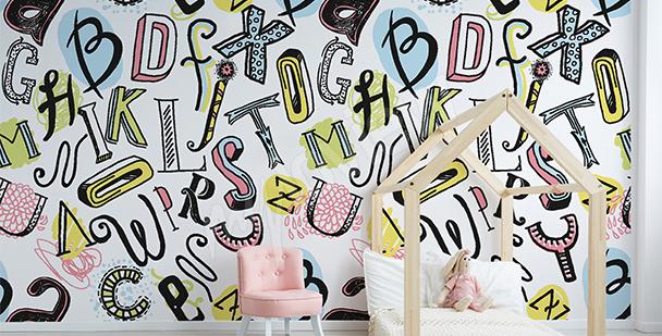 Kinderfototapete Alphabet