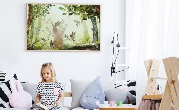 Kinderposter Wald