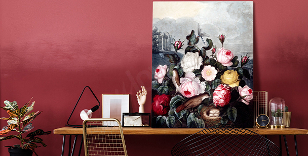 Klares Bild im floralen Stil