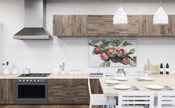 Küchenbild mit Äpfeln