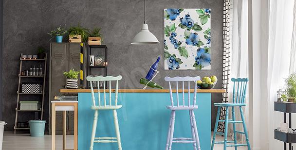 Küchenbild mit Heidelbeeren
