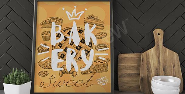 Küchenposter Kuchen und Kekse