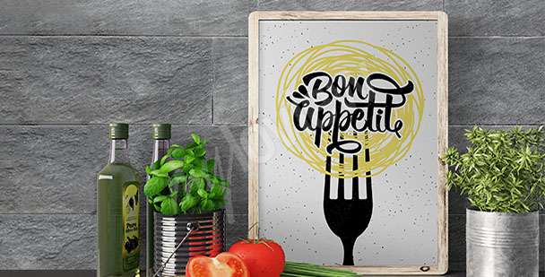 Küchenposter mit Motto