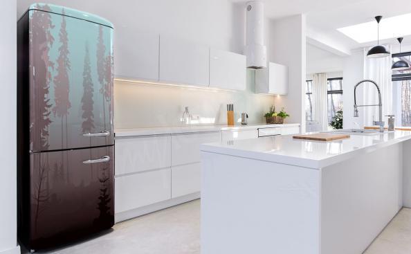 Kühlschrank Sticker mit Nadelwald