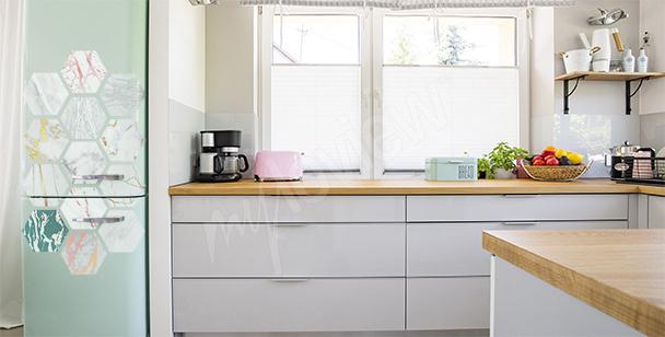 Marmor-Kühlschranksticker
