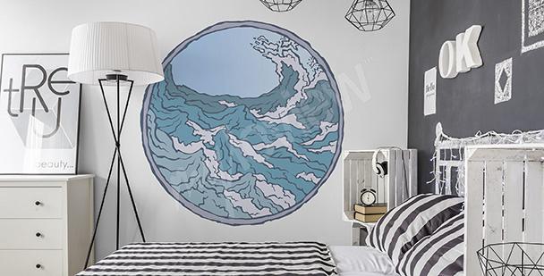 Meeres-Sticker fürs Schlafzimmer