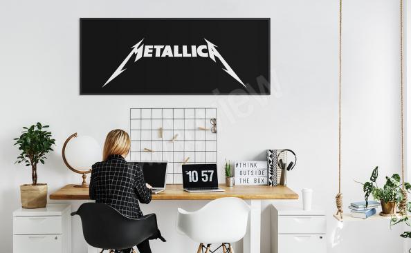Metallica-Poster in Schwarz-Weiß