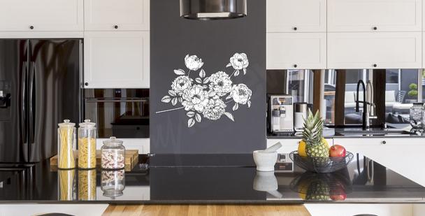Minimalistischer Sticker für die Küche