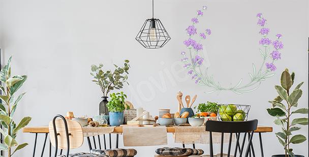 Minimalistischer Sticker Lavendel