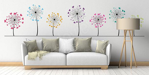 Minimalistischer Sticker Pusteblumen