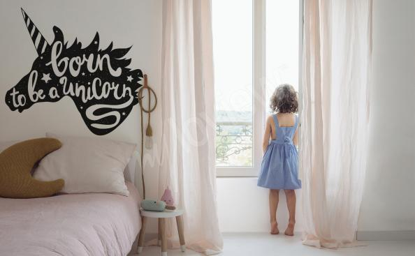 Minimalistischer typografischer Sticker fürs Kinderzimmer