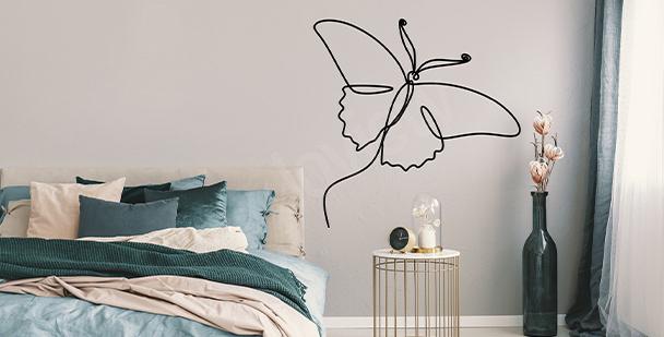 Sticker weiße Schmetterlinge