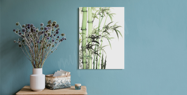 Minimalistisches Bild Bambus