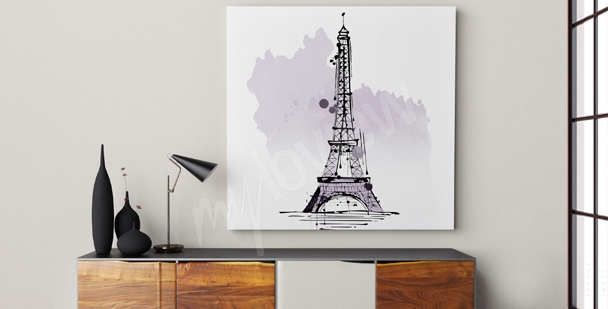 Minimalistisches Bild Eiffelturm