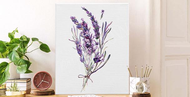 Minimalistisches Bild Lavendel