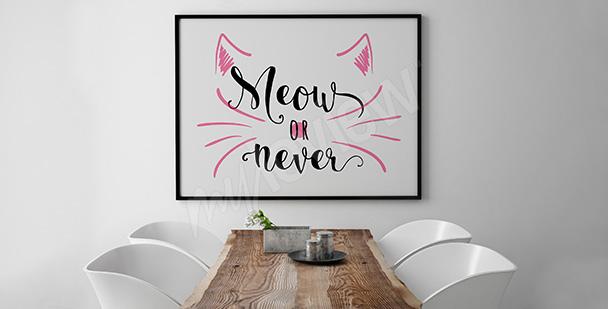 Minimalistisches Poster - Katze
