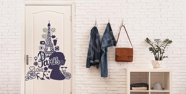 Moderner Sticker für die Tür