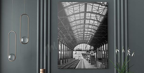 Modernes Bild Bahnhof