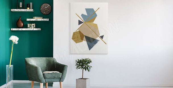 Modernes Bild mit Abstraktion