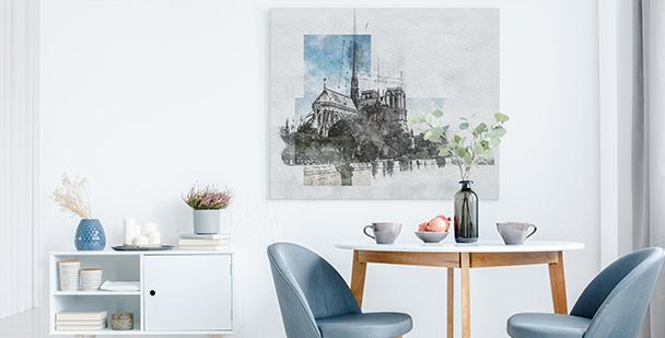 Bild Paris für Wohnzimmer