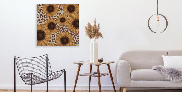 Modernes Bild Sonnenblumen