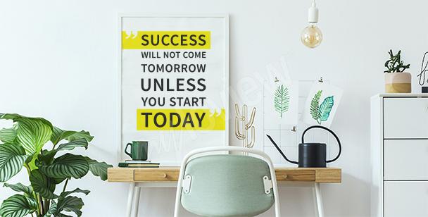 Modernes Poster mit Zitat