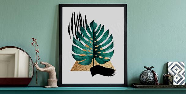 Poster bunte Pflanzen fürs Wohnzimmer